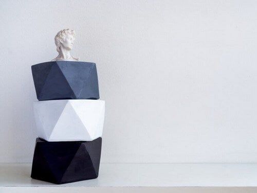 Moderne kunst i form af skulpturer