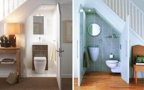 toilet under trapperne