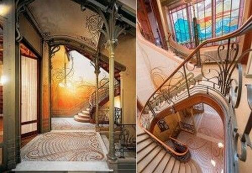 Trappen på hotellet er et modernistisk vidunder