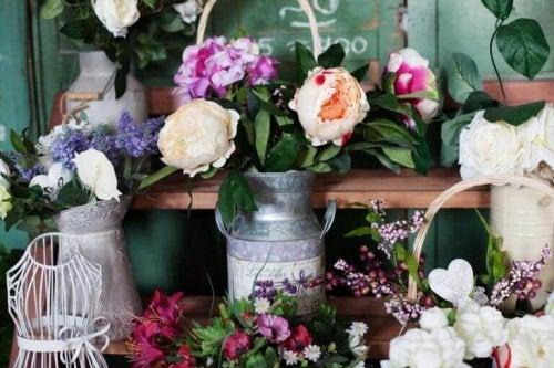 blomster i kander