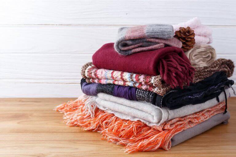 bunke med tørklæder