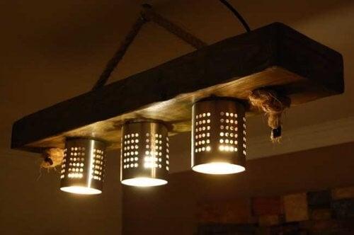 Lamper af dørslag og skåle: Sådan gør du