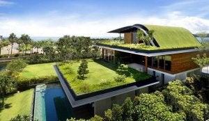 hus i flere planer