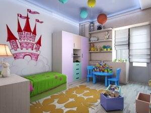 flot dekoreret børneværelse