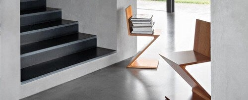 Zigzag-stolen af arkitekten Gerrit Rietveld