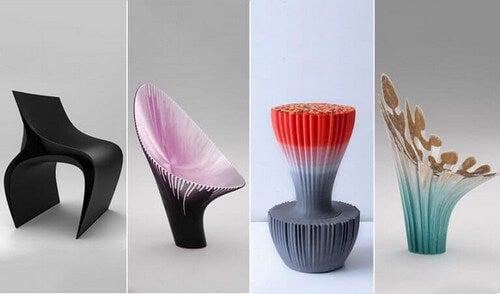 Stole, der er 3D-printede