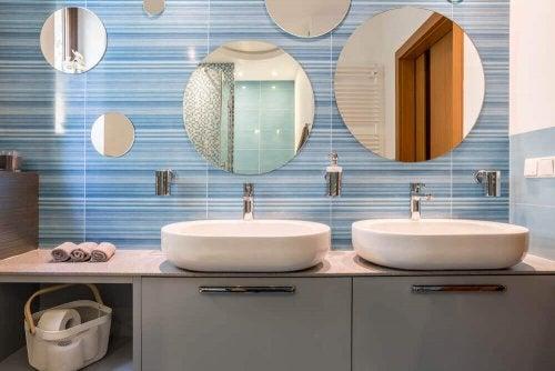 Badeværelsesvasken - endnu et dekorationskoncept