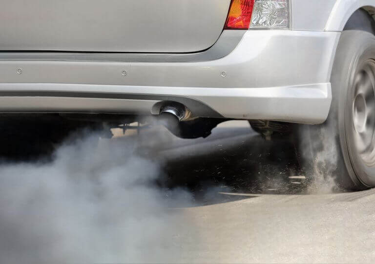 bilos som udendørs forurening