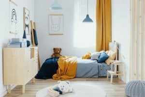 begge farver kan også bruges på et soveværelse