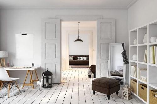 indendørs døre til stue