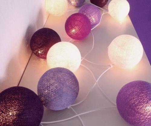balloner kan bruges til at lave dine egne lyskæder