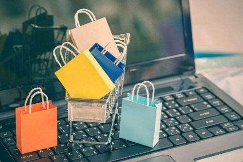 shopping på internettet