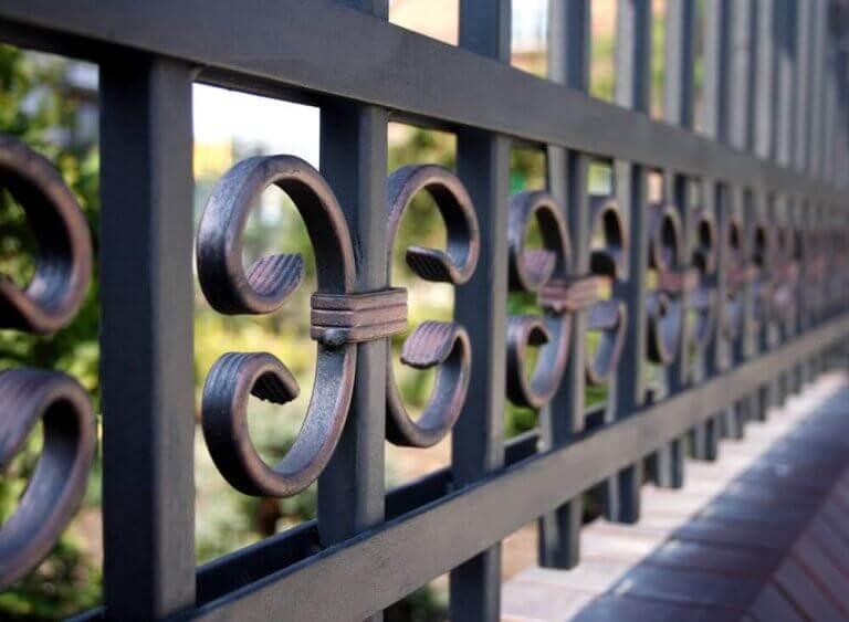 typer af hegn i metal