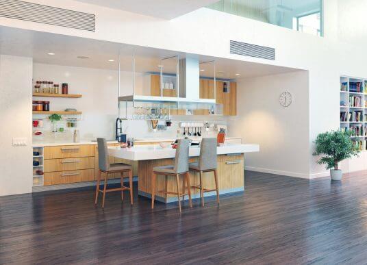 åbent køkken med meget plads