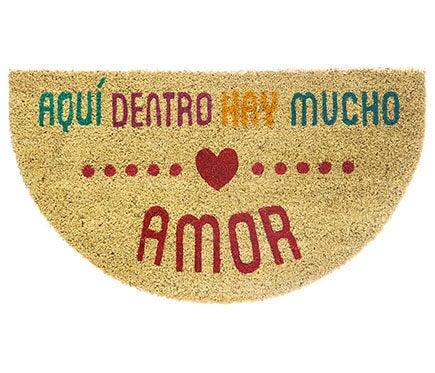 dørmåtte med et spansk ordsprog som er en af Leroy Merlins mest populære dørmåtter