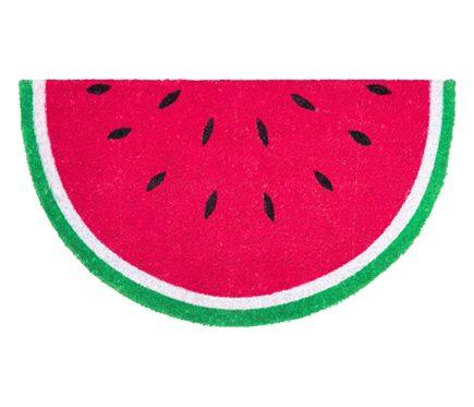 dørmåtte i form af en vandmelon som er blandt Leroy Merlins mest populære dørmåtter