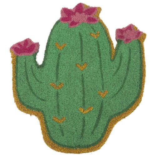 dørmåtte i form af en kaktus som er en af de mest populære dørmåtter i 2019