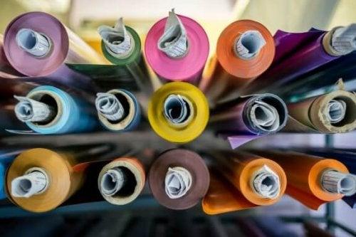 ruller med forskellige farver