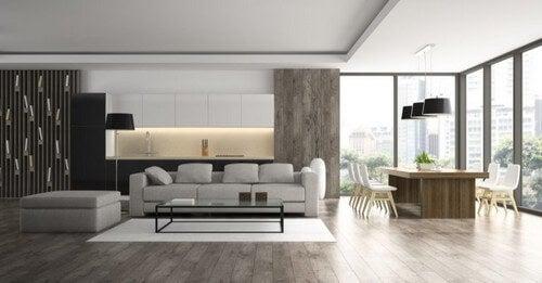 Minimalistiske indretninger anvender ofte skræddersyede møbler