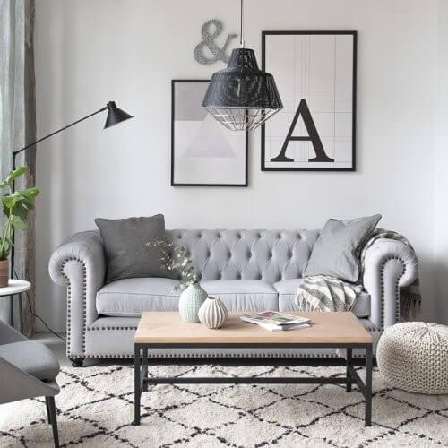Chester-sofaen er en klassiker blandt grå sofaer