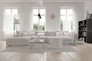 flot hvid sofa