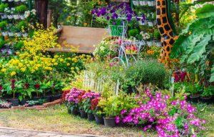 have med blomster