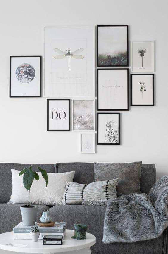 indretning med grå