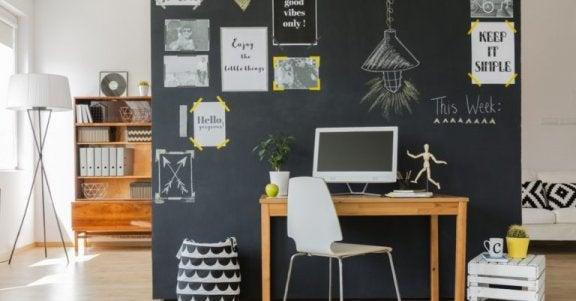 kontor med tavle