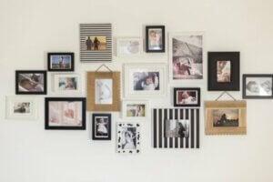 Private billeder på væggen