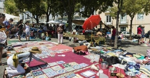 Loppemarked i Porto, Portugal