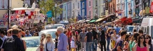 Portobello Market - Et af de mest berømte loppemarkeder