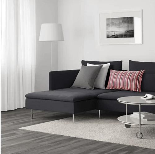 Söderhamn-sofaen er en flot, grå sofa