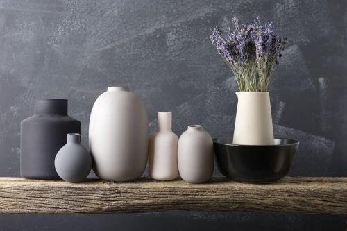 Vaser som dekorative elementer