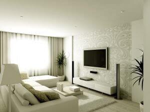 Sofaen skal være lige ud for TV'et