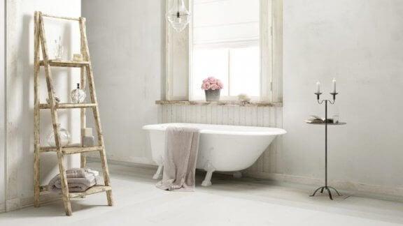 badeværelse med shabby chic stil