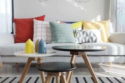 flasker kan også benyttes til at dekorere dit sofabord med
