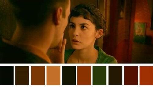 der gøres brug af en masse forskellige farvetoner i filmen