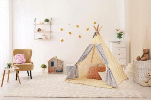 husk også at købe nogle møbler i børnestørrelse
