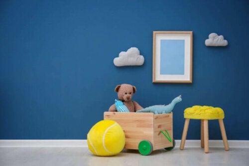 nydeligt soveværelse. et rent hjem er vigtigt og sikkert for børnene