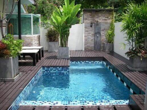 pool på terrasse