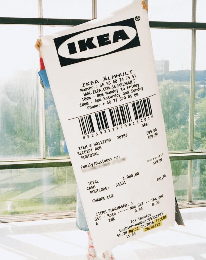 kæmpe bon fra IKEA