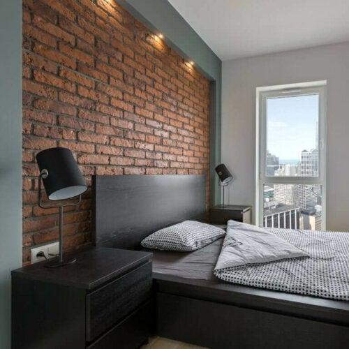 mursten på væggene passer godt til en rockstil