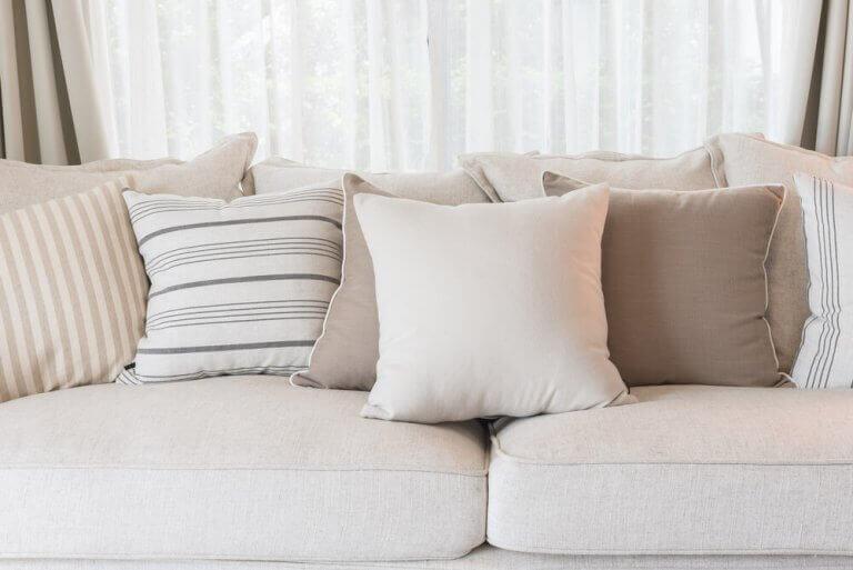 sofa i beige
