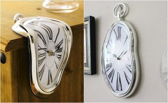 visuelt smeltende ur