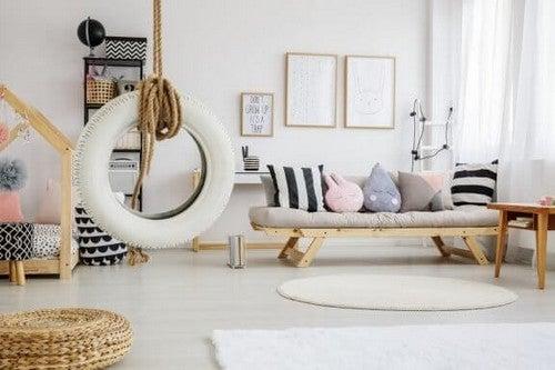 Lav fede møbler med dæk og fælge
