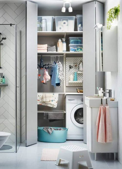 Fusioner dit vaskerum og badeværelse