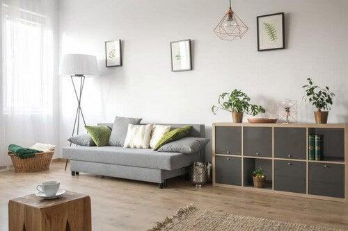 Flot indrettet stue