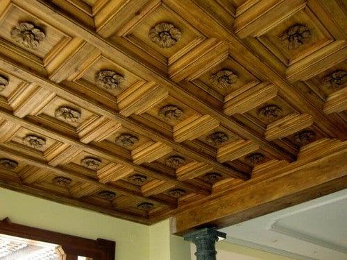 Unikt træloft lavet af Paco Luis Martos