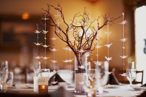 Unikke og flotte borddekorationer af træ