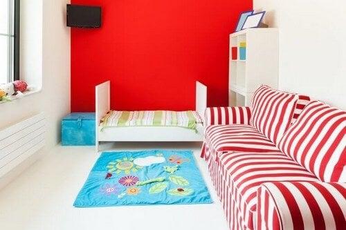 Skab et rødt børneværelse med vores tips